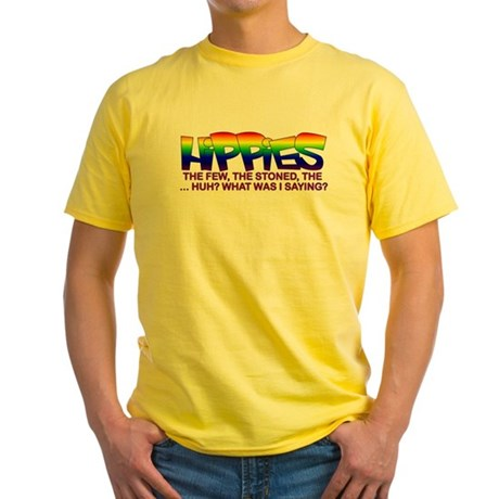"Anti Liberal Hippies ""Stoned"" Yellow T-Shirt"
