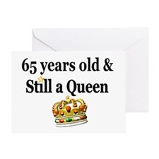 65 YR OLD QUEEN Greeting Card