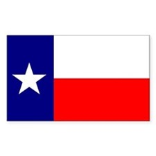 Flag of Texas Sticker (Rect.)