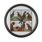Rooster Bait Large Wall Clock
