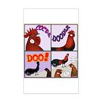 Cocka-Doodle-Doo Mini Poster Print