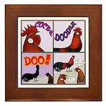 Cocka-Doodle-Doo Framed Tile