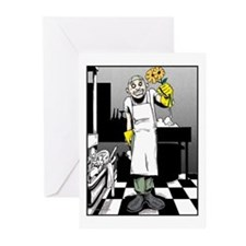 Ethan with Flowers Greeting Cards (Pk of 10)