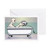Curtis in the Tub Greeting Cards (Pk of 10)