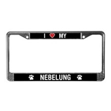 I Love My Nebelung License Plate Frame