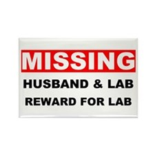 Missing Husband Lab Rectangle Magnet