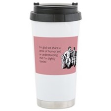 Slightly Funnier Stainless Steel Travel Mug
