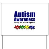 Autism Awareness Puzzle Yard Sign