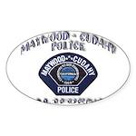 Maywood Cudahy Police Sticker (Oval 10 pk)