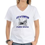 Compton Public Works Women's V-Neck T-Shirt