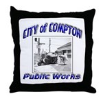 Compton Public Works Throw Pillow
