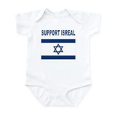 Support Isreal Infant Bodysuit
