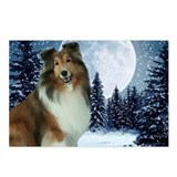 Winter Night Sheltie Postcards (Package of 8)