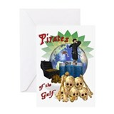 BP Gulf Oil Spill Pirates Greeting Card