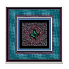 Temple Butterfly Tile Coaster