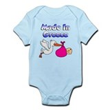 Stork - Greek Baby Girl Infant Bodysuit