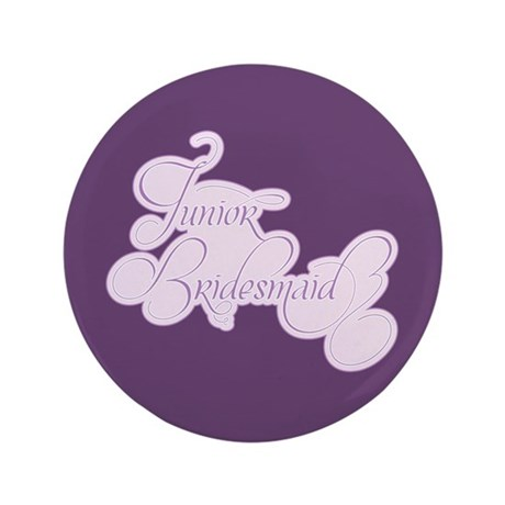 "Amor Junior Bridesmaid 3.5"" Button"