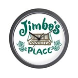 Cottage Brand: Jimbo's Place Wall Clock
