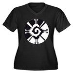 Mayan Unity Symbol Women's Plus Size V-Neck Dark T