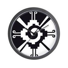 Mayan Unity Symbol Wall Clock for