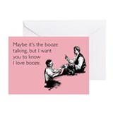Love Booze Greeting Card