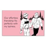 Effortless Friendship Sticker (Rectangle)