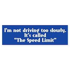 Speed Limit Not Slow Bumper Sticker