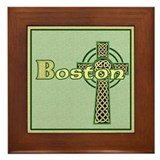 Boston Celtic Cross Framed Tile