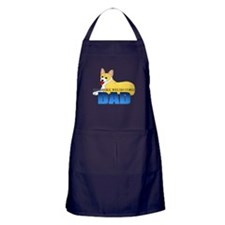 Pembroke Welsh Corgi Dad Apron (dark)