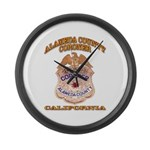 Alameda County Coroner Large Wall Clock