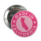 "Made in California - Pink 2.25"" Button"