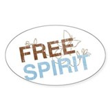 Free Spirit Oval Decal