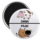Cow 2.25&quot; Round Magnet