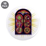 "LOST Stained Glass 3.5"" Button (10 pack)"