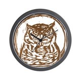 Owl - Wall Clock