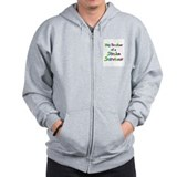 Big Brother to a Stroke Survi Zip Hoodie