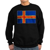 Flag of Aland Islands 4 Sweatshirt