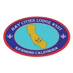 Bay Cities Lodge Sticker (Oval 10 pk)
