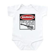 Warning Ukulele Player Infant Bodysuit