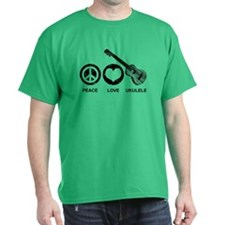 Peace Love Ukulele T-Shirt