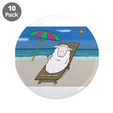 "plage/beach 3.5"" Button (10 pack)"