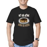 Donuts for Looking Men's Fitted T-Shirt (dark)