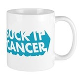Suck It Cancer - Blue Mug