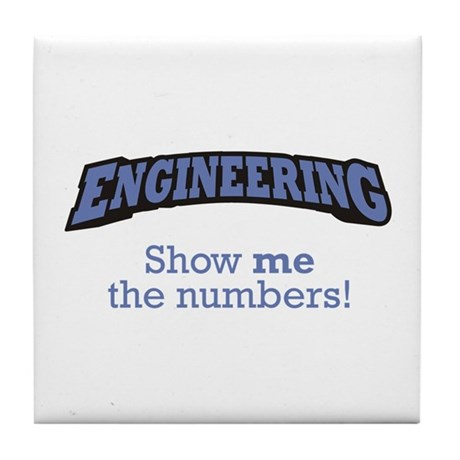 Engineering/Numbers Tile Coaster