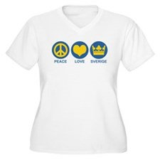 Peace Love Sverige T-Shirt