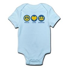 Peace Love Sverige Infant Bodysuit