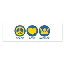 Peace Love Sverige Bumper Sticker