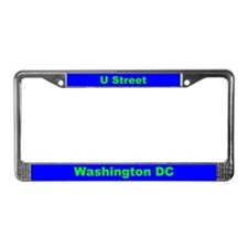U Street Green/Blue License Plate Frame