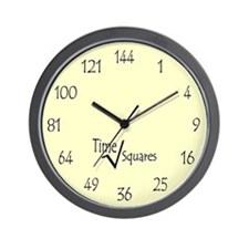Time Squares Wall Clock
