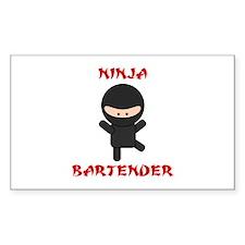 Ninja Bartender Plain Decal